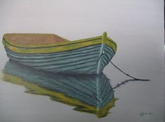 Dinghy in the Fog  12 X 16 oil painting on stretched by artbyjoy, $192.00