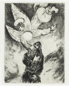 Jeremiah received Gift of the prophecy (Jeremiah, I, 4 10) - Marc Chagall