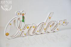 küçük prens temalı kişiye özel ahşap isim çalışması  le petit prince detail personalised wooden names
