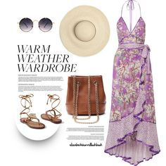 SUMMER VIBES by elizabethhorrell on Polyvore featuring Marc Jacobs, Venus, LC Lauren Conrad and Spitfire