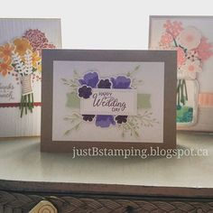 More samples with new Stampin' Up! colours for my BOGO Open House next weekend. Don't forget to RSVP in advance for special perks! Stampin Up, Happy Day, Open House, Rsvp, Don't Forget, Greeting Cards, Paper Crafts, Colours, Frame
