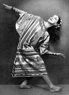 I'm guessing this is a young Martha Graham in the 1920s - she danced with Denishawn before her solo career and they did a lot of dance work in silent films.