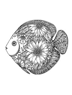 Oceans, Stress Relieving Coloring Book