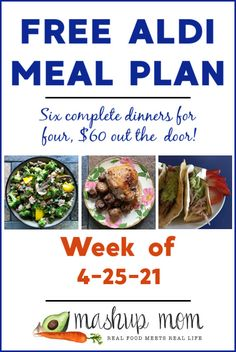 Free ALDI Meal Plan week of 4/25/21 - 5/1/21: Six complete dinners for four, $60 out the door! This week's meal plan sports everything from garlic soy roasted chicken & mushrooms, to easy kielbasa quesadillas -- and so much more! Aldi Meal Plan, Meal Prep, Turkey Stir Fry, Meal Planning Board, Real Food Recipes, Healthy Recipes, Mushroom Chicken, Salad Bar, Frugal Meals