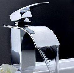 Contemporary Brass Bathroom Basin Faucet Single Handle Sink Mixer Tap Chrome for sale online Small Bathroom Sinks, Brass Bathroom, Bathroom Sink Faucets, Vanity Sink, Kitchen Faucets, Dream Bathrooms, Bathroom Cabinets, Country Bathrooms, Concrete Bathroom