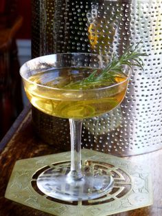 Lazy Sunday - Pear Infused Aviation Gin, Lillet Blanc, Ginger-Rosemary ...