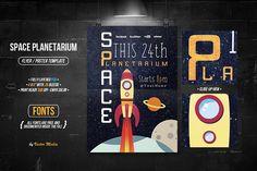 Space Planetarium - Flyer/Poster by VectorMedia on @creativemarket