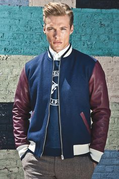 Varsity Jacket by Shades of Grey. Love this color combo.