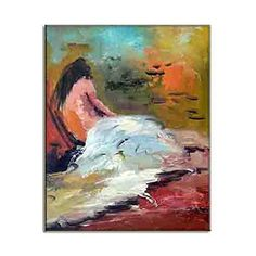 Artisan Canvas Prints Beautiful Nude Lady Paintings Woman Posing Naked Sensual Wall Hanging Modern Home Decor HD Art Picture C 50x70cm  20x28inch * Continue to the product at the image link.