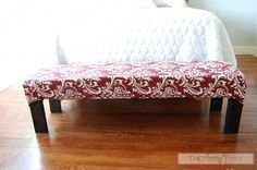 Upholstered Bench   Do It Yourself Home Projects from Ana White