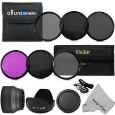 52MM Must Have Lens Filter Accessory Kit for NIKON D3300 D3200 D3100 D3000 D5300 D5200 D5100 D5000 D7000 D7100 DSLR Camera - Includes: 52MM ...