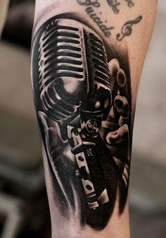 microfone antigo tattoo - Pesquisa Google