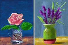 psych-edelic:  David Hockney, Some of his recent iPad art. so amazing!!