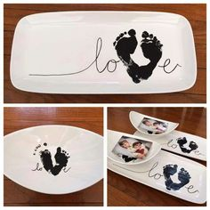 The cutest footprint family art ideas - The cutest footprint family art ideas Informations About Die süßesten Abdruck-Familien-Kunst-Ideen - Mothers Day Crafts, Valentine Day Crafts, Valentines, Baby Hand And Foot Prints, Baby Prints, Diy Crafts For Kids, Arts And Crafts, Art Crafts, Fabric Crafts