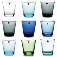 Iittala Kartio glasses in many shades Kitchen Ware, Marimekko, Interesting Stuff, Finland, Interior Architecture, Shot Glass, Porcelain, Relax, Pottery