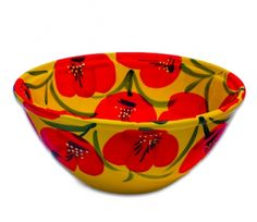 """This large bowl is perfect for serving up salad, pastas, or anything that you can fit inside its larger frame. The vibrant colors and exquisite design make it feel at home on a kitchen table and an even more convenient kitchen accessory to use.  Made in Spain. Hand painted by gifted artisans. Microwave friendly.  Dimensions: 10.62""""x4.5""""  $34.95"""