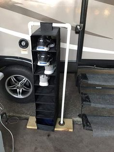 Carson Schuhablage Nanotechnology Offers Insulating Benefits A growing number of homeowners are Travel Trailer Camping, Camping Glamping, Camping Ideas, Travel Trailers, Outdoor Camping, Camping Storage, Rv Storage, Trailer Storage, Outdoor Shoe Storage