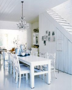 i want a house full of white everything. someday.