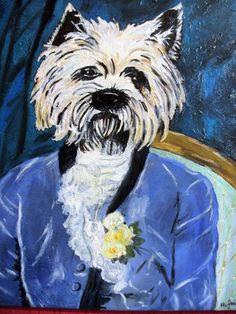 peinture personnalisée  à l'huile scottish terrier,Cadeaux de Noël,Cadeau pour Ami,Cadeaux personnalisés,Cadeaux pour Femme,Cadeau original