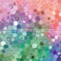 Sliced color discs - 50 X 50 cm - Grafisk kunst på lærred af Søren Grooss