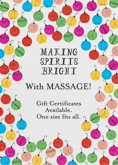 Caring Hands Massage has Gift Certificates and many fine skin care products, plus essential oils!