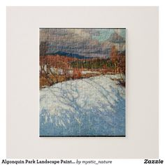 Algonquin Park Landscape Painting by Tom Thomson Jigsaw Puzzle Wildlife Paintings, Nature Paintings, Landscape Paintings, Tom Thomson Paintings, Algonquin Park, Great Works Of Art, Park Landscape, Photographer Gifts, Classic Paintings
