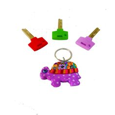 Purple Turtle key chain, key chain, keychain, key holder, unique key chain, bag decorate,key chain for woman,cute key chain