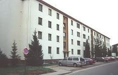 Not our particular building but just like our apartment complex in Vogelweh, Kaiserslautern, Germany.