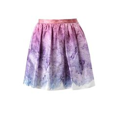OPENING CEREMONY 'Sunset glacier' printed silk skirt ($520) ❤ liked on Polyvore