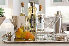 St-Germain, Pear Vodka, Splash of champagne