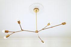Modern Brass Pendant Lamps. / sfgirlbybay
