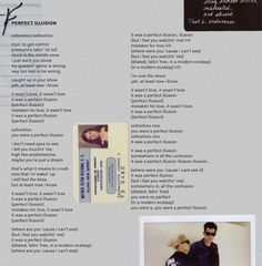 Preview of my new album Lyric BOOKLET.  Available in physical copy and digital here: http://smarturl.it/Joanne  That's my father's sister Joanne's student ID. Thought it was nice to include family heirlooms that carry meaning to me still today. And a Polaroid of me and @iammarkronson in the studio as we built our musical family of no rules pop cowboy dance soul funk rock. #PerfectIllusion #MillionReasons #AYO