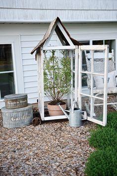 DIY window greenhous