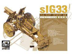 Model - sIG 15cm Heavy Infantry Gun - AFV Club 35148 - The sIG 33 (schweres Infanterie Geschütz 33) 15 cm was the standard German heavy infantry gun used in the Second World War