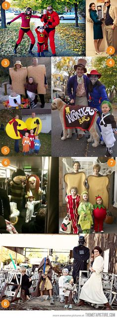 Funny pictures about Awesome Family Halloween Costumes. Oh, and cool pics about Awesome Family Halloween Costumes. Also, Awesome Family Halloween Costumes. Costume Halloween, Table Halloween, Fröhliches Halloween, Holidays Halloween, Halloween Decorations, Halloween Clothes, Group Halloween, Pac Man Costume, Zombie Costumes
