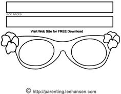 oakley sunglasses coloring pages | Pete the cat magic sunglasses | Kinder reading | Pinterest ...