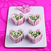 Mini-charlottes de radis rose - une recette Fromage - Cuisine