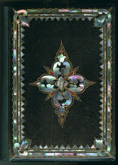 Mid-19th C. mother-of-pearl book binding