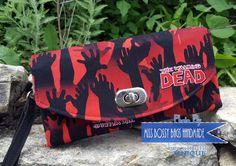 Handmade Geek Wristlet Wallet Necessary Clutch by MissBossyBags