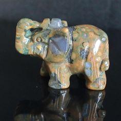 g2294   Cute Carved rhyolite jasper elephant figurine