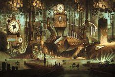 Risultati immagini per steampunk bedroom