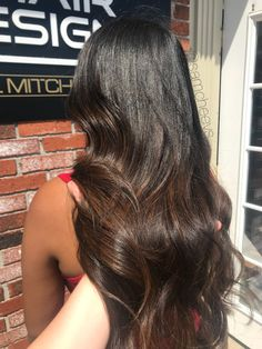 Brown chocolate mocha caramel highlight lowlight for black hair color types