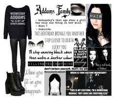 """""""The Addams Family"""" by shadowgirl13 ❤ liked on Polyvore featuring T By Alexander Wang"""