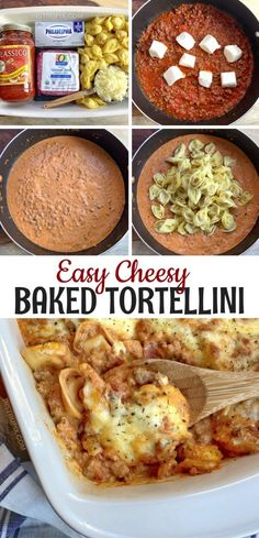 Easy Cheesy Baked Tortellini (With Meat Sauce) Easy Cheesy Baked Tortellini (With Meat Sauce),On my list to make Looking for easy casserole recipes for dinner? Cheesy Baked Tortellini With Meat Sauce — A quick. Dinner Recipes Easy Quick, Quick Easy Meals, Recipes Dinner, Dinner Ideas, Dessert Recipes, Cheap Easy Dinners, Easy Dinner Meals, Cheap Family Dinners, Simple Recipes
