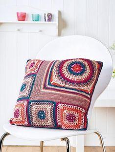 FREE CROCHET PATTERN: sampler cushion                                                                                                                                                                                 More