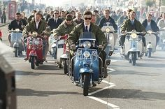 SAM RILEY sits astride his Lambretta, the very epitome of Mod cool in his parka and shades. Mod Scooter, Lambretta Scooter, Vespa Scooters, Scooter Garage, Piaggio Vespa, Mod Fashion, Fashion Mode, Bike Fashion, Rock Film