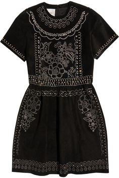 Valentino   Studded suede mini dress   NET-A-PORTER.COM