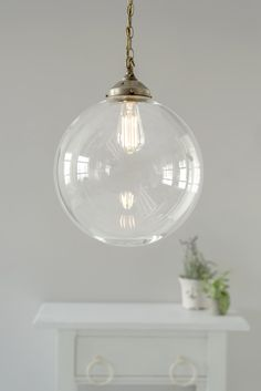 Richmond Pendant Light in Antiqued Brass Large Pendant Lighting, Glass Pendant Light, Brass Pendant, Pendant Lights, Ceiling Rose, Ceiling Lights, Window Furniture, Hand Blown Glass, Glass Shades