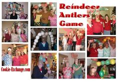 The Reindeer Antlers Game! The object of the game is to see who can build the biggest, baddest, Reindeer Antlers out of balloons and stockings --the quickest!