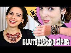 DIY: 3 IDEIAS de BIJUTERIAS com ZÍPER | Paula Stephânia - YouTube
